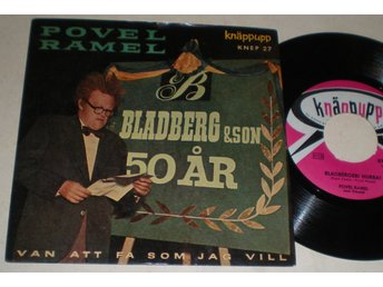 Povel Ramel EP/PS Bladbergeri hurra 1957