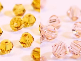 100st Tolstoy 4mm crystal bicone LtSmTopaz/Peach Rose Duo Mix