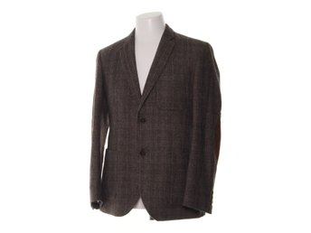 Bondelid, Kavaj, Strl: 48, Tweed patch pocket, Brun/Röd, Ull/Polyester