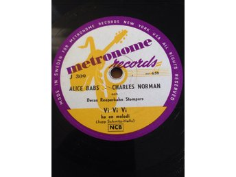 Alice Babs - Charles Norman. Metronome J 309.