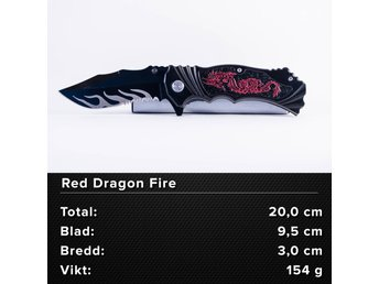 Red Dragon Fire - Jaktkniv, fällkniv, kniv