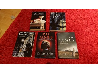 Bokpaket / 5böcker  P. D. James / kommissarie Dalgliesh