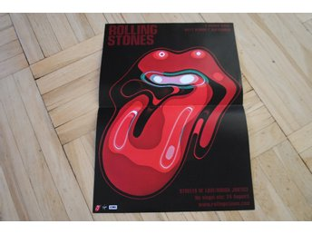 "Mini poster butiks display för Rolling Stones ""A bigger bang"""