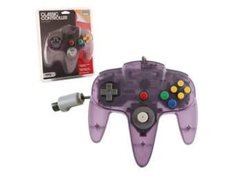 N64 Classic Controller Clear Purple TTX Tech