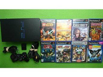 Playstation 2 konsol paket med 8 spel PS2 basenhet playstation - Västerhaninge - Playstation 2 konsol paket med 8 spel PS2 basenhet playstation - Västerhaninge