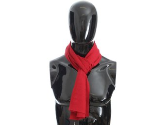 Dolce & Gabbana - Red Knitted Cashmere Scarf