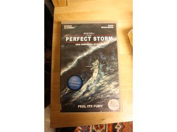 VHS - The Perfect Storm, Warner år 2000, George Clooney, Mark Wahlberg. Hyrvideo