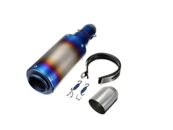 38-51mm Motorcycle Stainless/Carbon Fiber Exhaust Muffler...