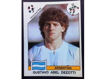 PANINIs  STICKERS - ITALY 90 -  Gustavo  Abel  DEZOTTI  (ARGENTINA).
