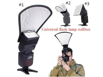 2 in 1 Camera Flash Diffuser Softbox ...