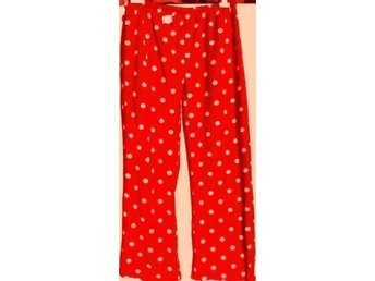 NY LUXUÖS RED LOVELY EXTRA WARM PYJAMAS BOTTOMS st 38-40