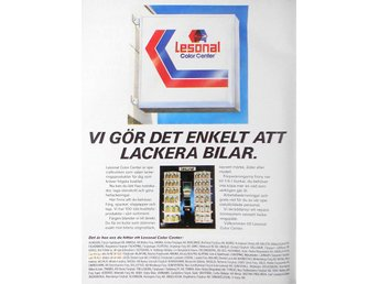 LESONAL COLOR CENTER, TIDNINGSANNONS 1987