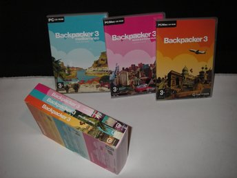 Backpacker 3 - The Collection. Spelet & de två Expansionerna i en Box Fint Skick
