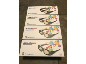 Excelvan 3D Glasögon Active Shutter TV Glasses IR & Bluetooth