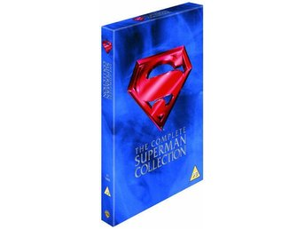 Stålmannen 1,2,3 & 4 - Superman Collection (1978-1987) 4 Filmer - DVD Box