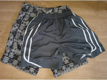Bad Shorts Selected homme, tränings shorts Nike, grå 2 st, Stl S