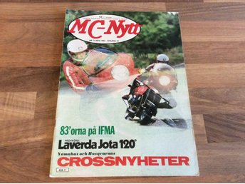 MC NYTT Nr 11 1982 Laverda Jota,,Enfield India 350,HD Chopper,Husqvarna cross