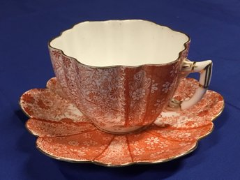 Wileman (Shelley) KOPP m FAT / Cup and saucer - Pattern 6027 - England - 1884