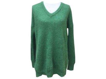 Stickad tröja Mohair Trend Grön M