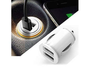 Dual 2 Port USB Mini Car Truck Charger Adapter for Cell Phone 12V Power White - Govindapuram - Dual 2 Port USB Mini Car Truck Charger Adapter for Cell Phone 12V Power White - Govindapuram