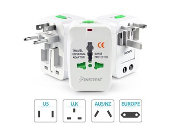 US to EU Europe Universal Omvandlare AC Power Plug Adapter Converter