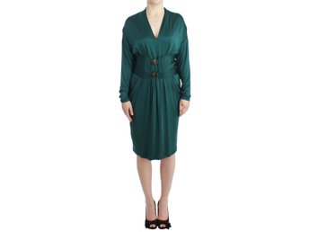 Cavalli - Green longsleeved belted dress