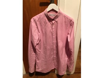 Skjorta rosa The Shirt Factory Strl 41 Slim Fit