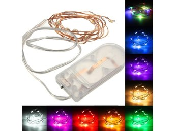 1M Battery Powered 10 LED Copper Wire Fairy String Light ...