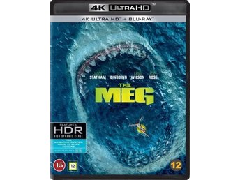 The Meg - 4K Ultra HD Blu-ray + Blu-ray - ny och inplastad