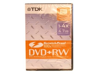 TDK DVD+RW DVD-box scratch 5 Pack
