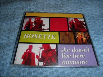 Roxette - She Doesn't Live Here Anymore (CD-maxi) 3 trk 1996 NM Toppskick!!