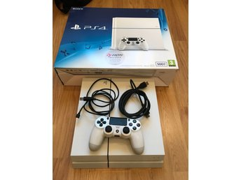 Playstation 4 white 500GB + Spel