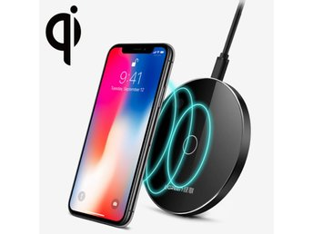 Kraftig QI Laddare 2A Max iPhone X/XS & 8 & 8 Plus, Galaxy S8 & S8 +