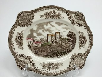 Fat 26 x 22 cm Johnson Bros England Old Britain Castles Ironstone