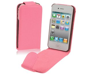 iPhone 4/4S Flipfodral (Rosa)
