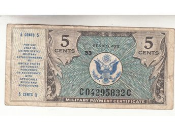 Usa  5 cents nd 1946 #M1 1