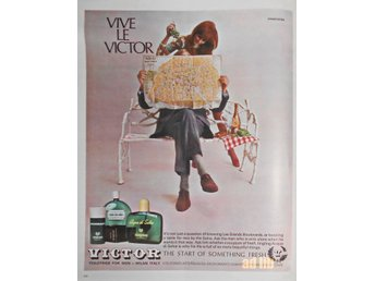 VICTOR TOILETRIES FOR MEN TIDNINGSANNONS Retro 1968