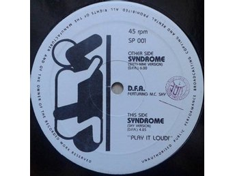 "D.F.A. Feat M.C. SKY title* Syndrome* Hip-House, Techno 12""  Italy"