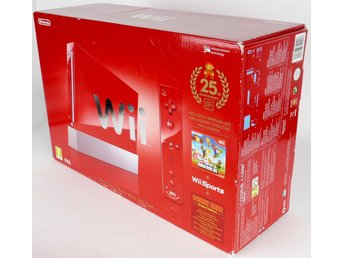 Nintendo Wii Super Mario Bros. 25th Anniversary Limited Edition Red Console -