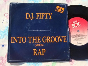 "D.J. FIFTY - INTO THE GROOVE 7"" 1987 BEAT BOX"