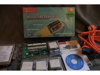 RAID Kontroler RocketRAID 454 4-Channel ATA RAID 5 Host Adapter med fyra 40Gb Di