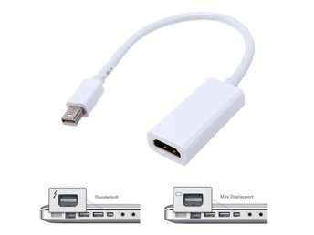 Thunderbolt Mini DisplayPort DP till HDMI Adapter Apple , HP, Microsoft