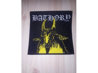 BATHORY PATCH-med gul get-Black Metal-Mayhem,Watain