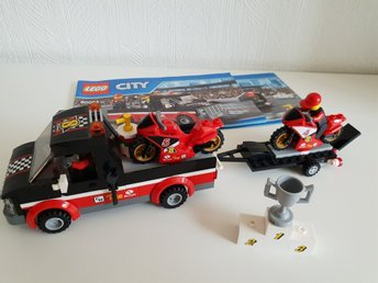 LEGO City 60084 Racercykeltransport, fint skick!