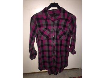 Skjorta Gina Tricot 34 svart rosa grå rutig - Finspång - Skjorta Gina Tricot 34 svart rosa grå rutig - Finspång