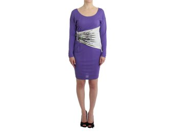 Cavalli - Purple longsleeved dress