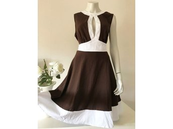ZERO 38 40 Festklänning brun satin pa.. (331959631) ᐈ Herwinning på ... cf7f5a0978621