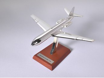 Atlas Editions Sud-Aviation Caravelle - 1/200 scale - chrome-plated - 1-kronas!