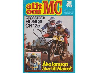 Allt Om Mc 1976-2 Honda CR 125..Yamaha TT 500..Earls Court