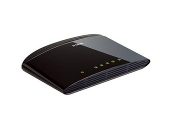 D-Link switch 5x10/100Mbps, NWay, uplink, bordsm.